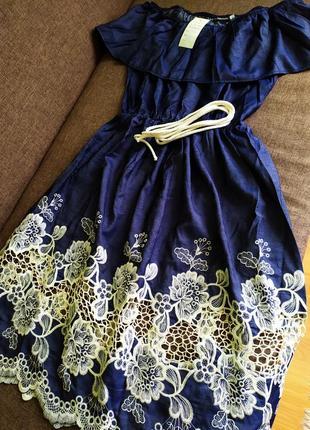 Джиновое платье2 фото