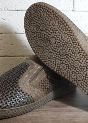 Мужские туфли на лето/ натуральная кожа levis2 фото