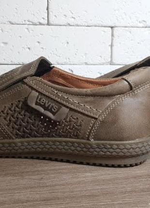 Мужские туфли на лето/ натуральная кожа levis3 фото