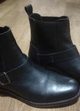 Ботинки кожанные челси zign