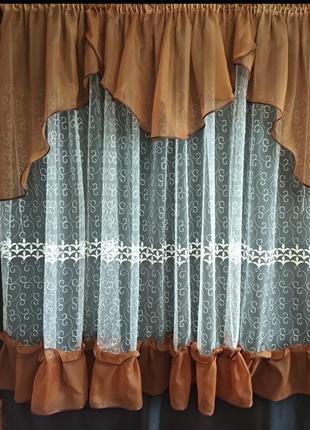 Готовые кухонные шторы