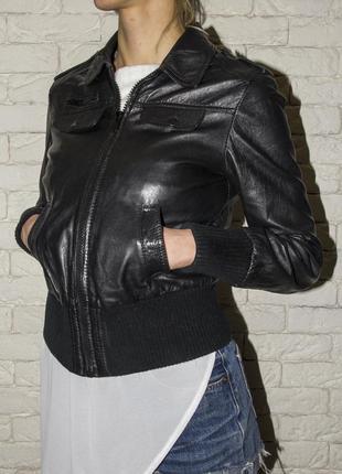 Кожаная куртка etam (натуральная кожа)