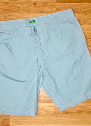 Мужские шорты мятного цвета из натуральной ткани хлопок италия 🇮🇹