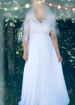 Свадебно-вечернее платье в греческом стиле