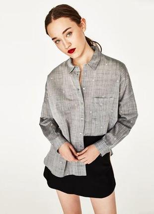 Рубашка блуза оверсайз вышивка р. 50-54 + подарок
