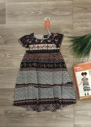 Платье хлопковое lupilu