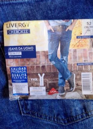 Мужские джинсы  livergy by cherokee,  p. 52 (36/34), акционная  цена