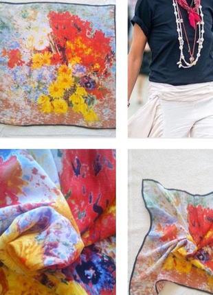 Красивый платок репродукция картины винсент ван гога из 100% шелка !