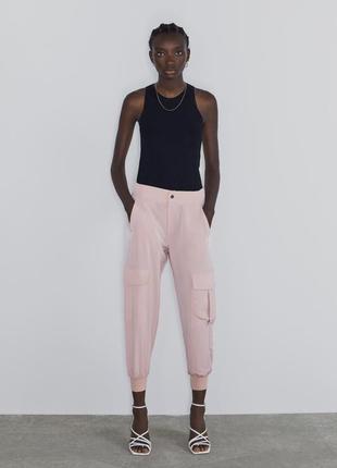 Фирменные брюки карго zara, размер s