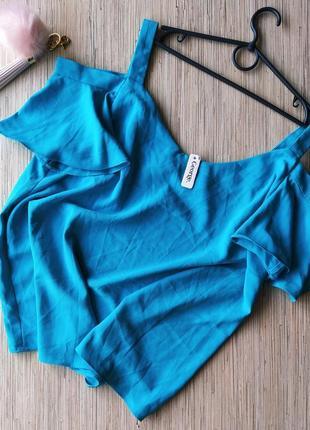 Красивая блуза цвета морской волны с рукавчиками