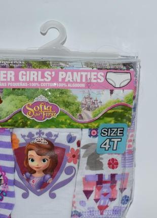 Набор коттон 3 pack doddler girls panties размер 4t софия прекрасная оригигнал сша