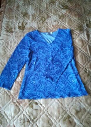 Симпатичная шифоновая блуза, кофточка в восточный принт🌹