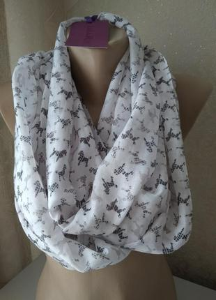Легкий шарф снуд lola rose