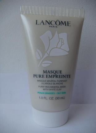 Очищающая минеральная маска для лица с белой глиной lancome pure empreinte