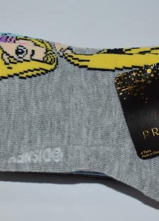 Новый набор носочков 6 pack принцессы disney princess low cut shoe size 4-10 оригинал сша