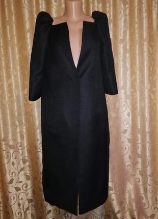 ✨✨✨черный женский длинный тренч, кардиган, пальто рукав 3\4 l. k. bennett london🔥🔥🔥