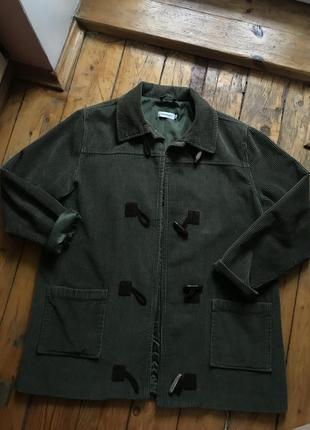 Мужская хаки вельветовая куртка