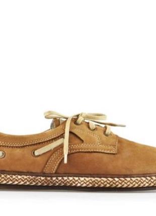 Хорошие повседневные туфли из натурального нубука krisbut / размер 45