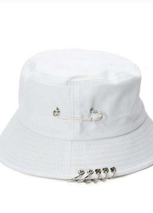 Панама панамка шляпа шапка белая с кольцами и булавкой качественная новая