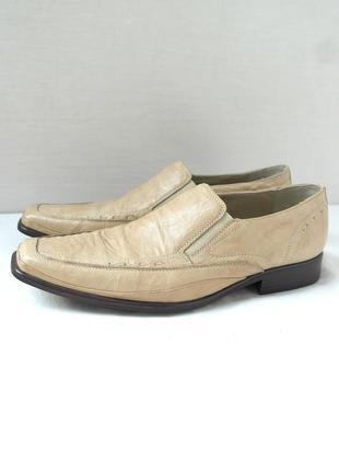 Стильные фирменные классические кожаные туфли roberto santi. размер uk12/ eur46.