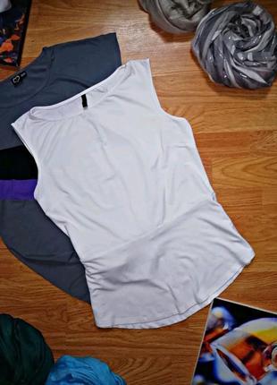 Женская легкая брендовая майка - блуза - топ с баской benetton 44-46
