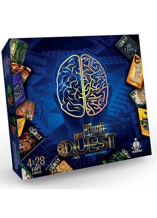 Настольная игра квест danko toys bq-02-01 - best quest 4in1, лучший квест 4в1