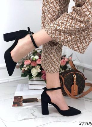 Красивые стильные босоножки, эко замш, туыли на каблуке, нарядные босоножки с ремешком