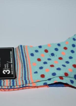 Новый набор носочки 3 пары kids fashion socks shoe size 5-9 оригинал сша