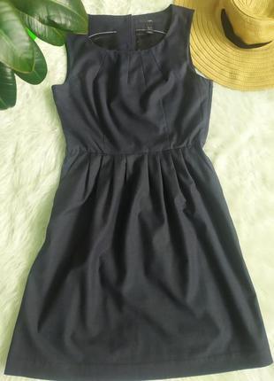 Платье сарафан длины миди с пуговками на спине