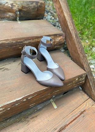 Босножки туфли лодочки капучино
