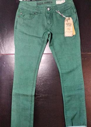 Джинсы женские garcia прямые темно-зеленые жіночі 28 29 30