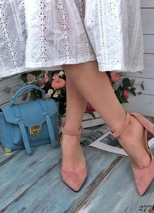 Классные босоножки на каблуке, туфли, эко кожа, хит сезона, с ремешком, закрытой пяткой