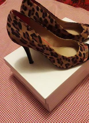 Туфли лодочки, тигровые