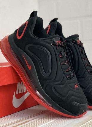 Женские кроссовки nike air max 720 black red кросівки