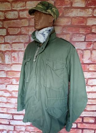 Куртка военная м-65 оригинал alpha industries винтажная 70-е