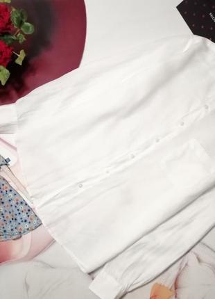 Мужская рубашка 100% лен, размер m/l
