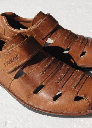 Rieker. мужские сандалии кожа, ортопедическая стелька  26 см