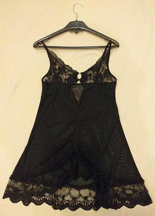Майже прозоре чорне платтячко