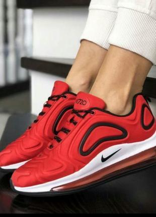 Женские кроссовки nike air max 720 red black кросівки