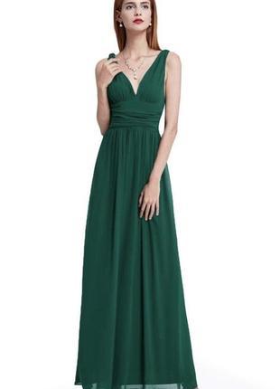 Роскошное вечернее выпускное шифоновое платье в пол ever pretty