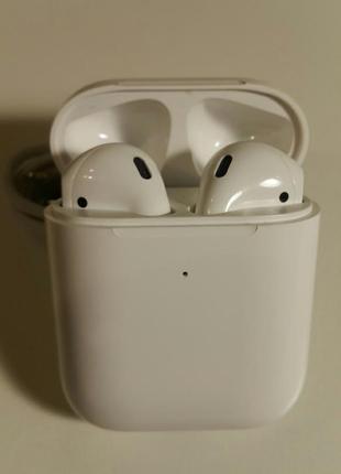 Безпроводные сенсорные блютуз наушники реплика airpods 2 гарнитура apple в боксе