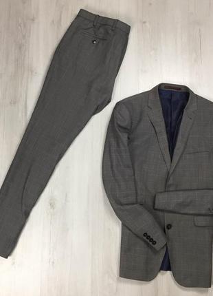 F9 n9 костюм клетчатый burton серый