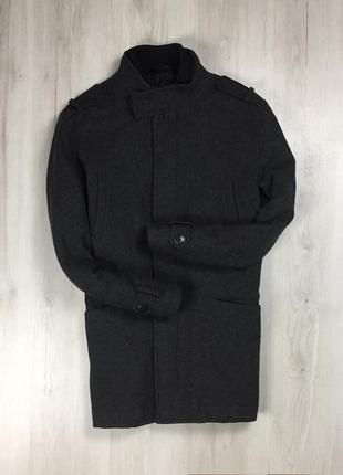 F9 пальто шерстяное f&f чёрное