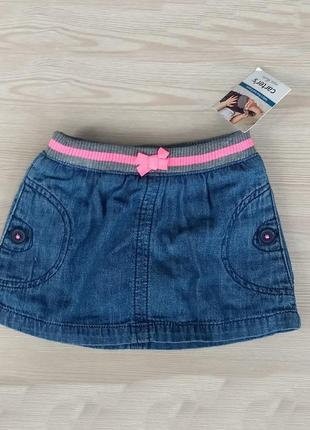Carters юбка джинсовая на резинке