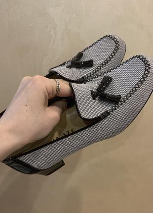 Туфли серые лоферы