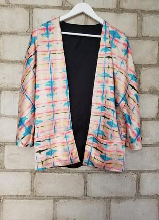 Шикарный двухстронний кардиган кимоно пиджак жакет