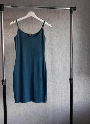 Платье. в рубчик.