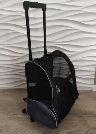 Рюкзак сумка на колесах для собак