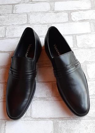 Мужские кожаные туфли veecadi без шнурков