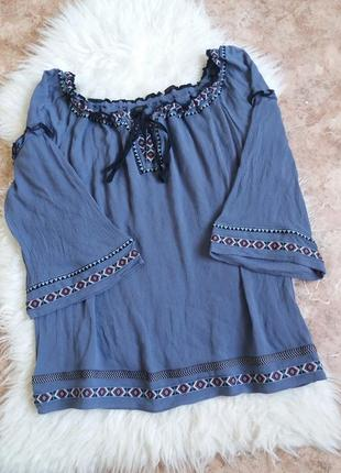 Вискозная блуза-вышиванка